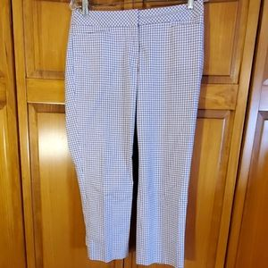 Talbots Capris Pink and Blue plaid size 4